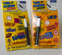Yes & Know Invisible Ink Book Set of 2 Ages 7-77 and 8-88