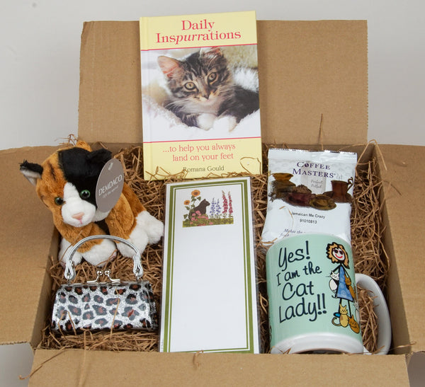 Cat Lovers Care Package Gift Set - Like a hug in a box!