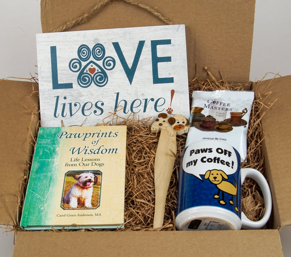 Dog Lovers Care Package Gift Set - Like a hug in a box!
