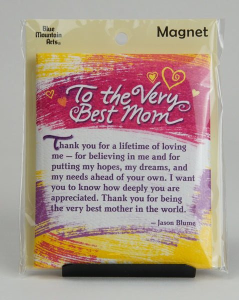 "Blue Mountain Arts ""To the Very Best Mom"" Magnet"