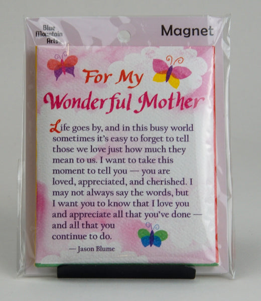 "Blue Mountain Arts ""For My Wonderful Mother"" Magnet"