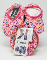 Snoozies Skinnies Slippers w/ Travel Pouch - Ice Cream
