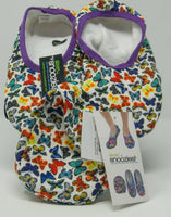 Snoozies Skinnies Slippers w/ Travel Pouch - Butterflies