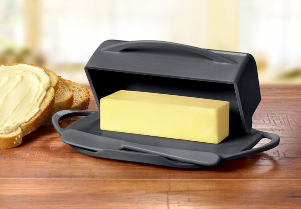 Butterie - The Butter Dish, Reinvented -  Gray