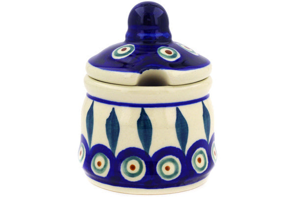 Polish Pottery - Jar with Notched Lid