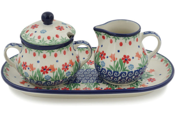Polish Pottery - Sugar & Creamer Set