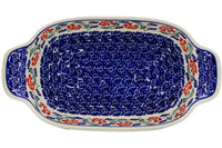Polish Pottery - Rectangular Baker w/ Handles