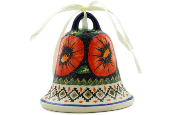 Polish Pottery - Bell Ornament