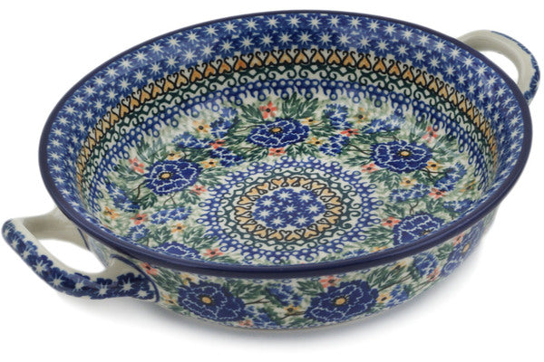 Polish Pottery - Round Baker w/ Handles