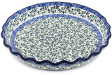 Polish Pottery - Fluted Pie Dish