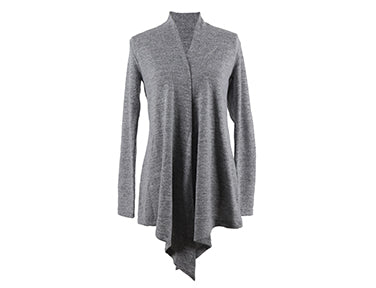 Hello Mello Carefree Threads Super Soft Flyaway Gray Cardigan