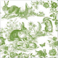 Bunny Toile Cocktail Napkin