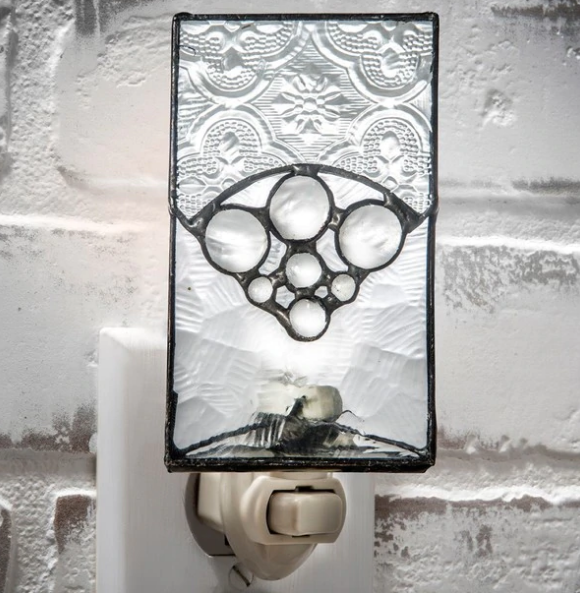 J. Devlin Night Light - Clear with glass stones