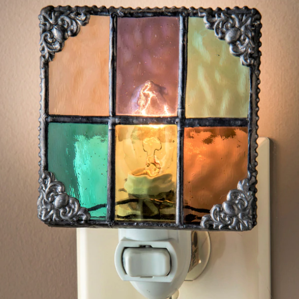 J. Devlin Night Light - English Muffin Multi Color