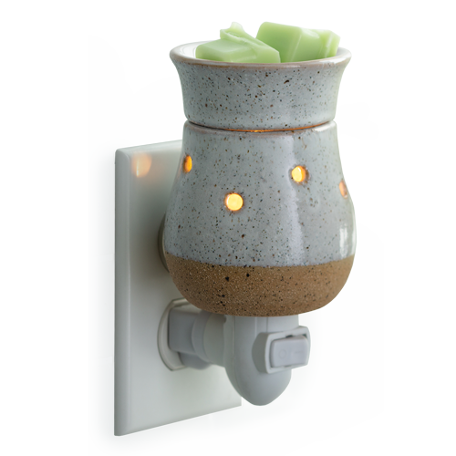 Pluggable Fragrance Wax Melter - Rustic White