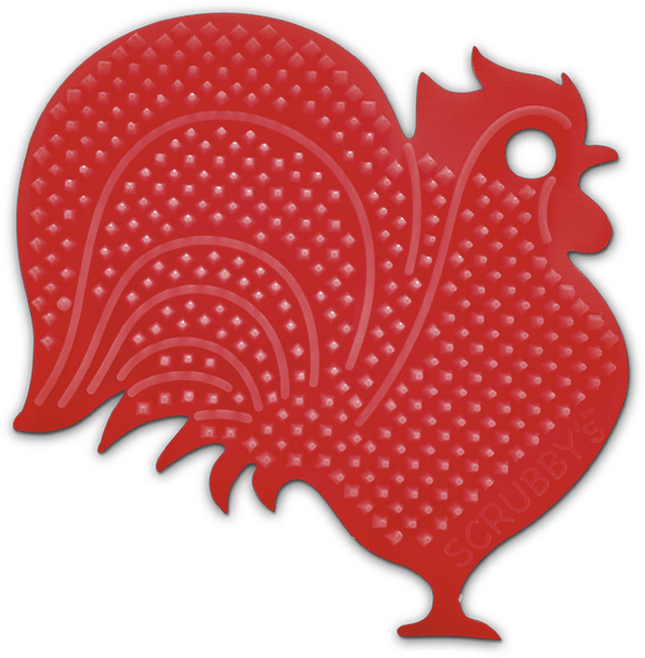 Scrubby's Silicone Sponges - Rooster