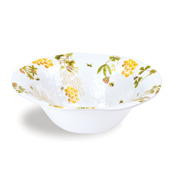 Honey & Clover Melamine Serveware Large Bowl