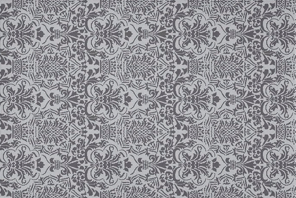 SoftWoven™ Silvery Damask Rug