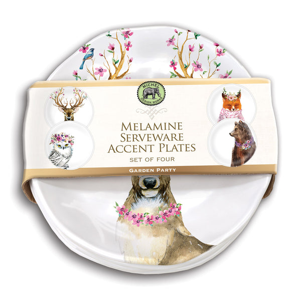 Garden Party Melamine Serveware Accent Plates