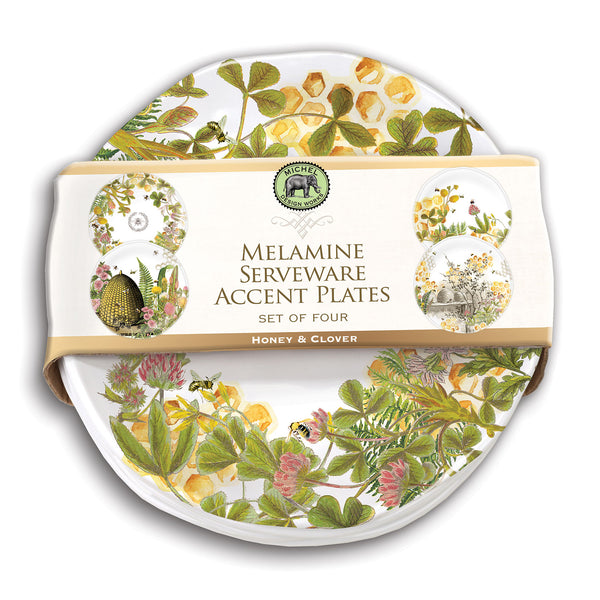 Honey & Clover Melamine Serveware Accent Plates