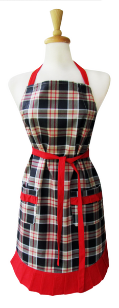 Ruffle Apron - Man Plaid