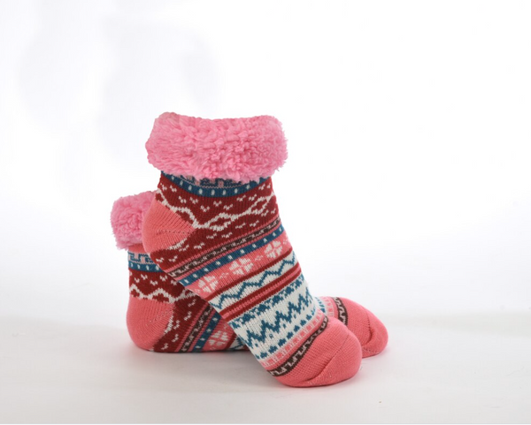Women's Snoozies!® Sherpa Lined Footie Brights