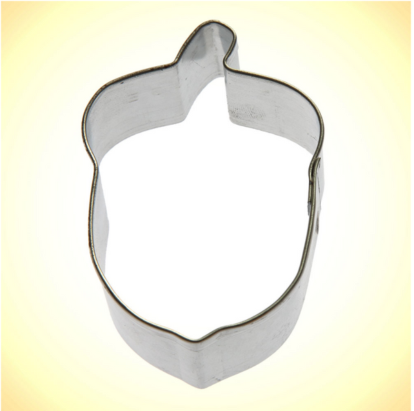 Handmade Cookie Cutters - Small Acorn 2.5""