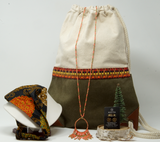 Gift Box Collection - Boho Green Backpack