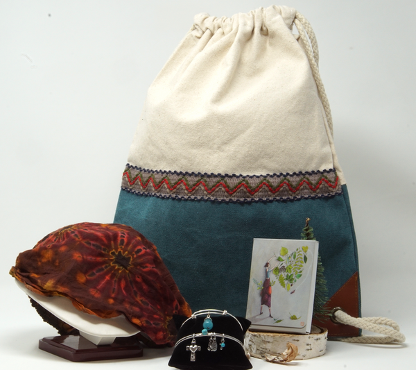 Gift Box Collection - Boho Teal Backpack