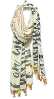 "Ivory Mantra Scarf – ""I am strong because I've been weak"""