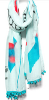 "Blue Mantra Scarf – ""Let go of what you cannot change."""