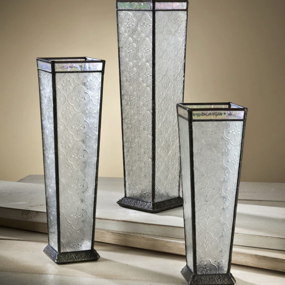 J. Devlin Glass Box - Vase set of 3