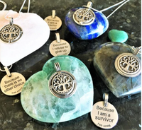 'I Am Strong Because' Pendants