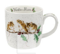 Royal Worcester Wrendale Designs Winter Mice