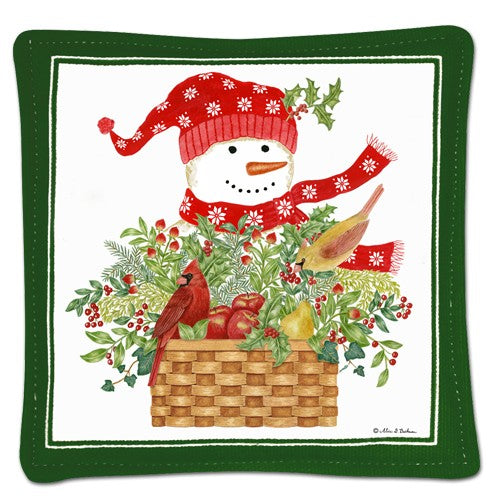 Mug Mats (Set of 4) - Snowman Basket