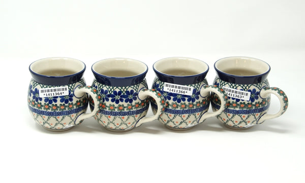 Polish Pottery - Bubble Mug (Set of 4)