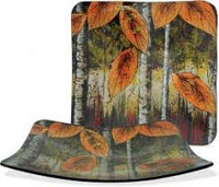 "Autumn Leaves Collection 9"" Square Plate"