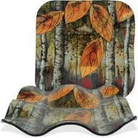 "Autumn Leaves Collection Rippled 7.5"" Square Plate"