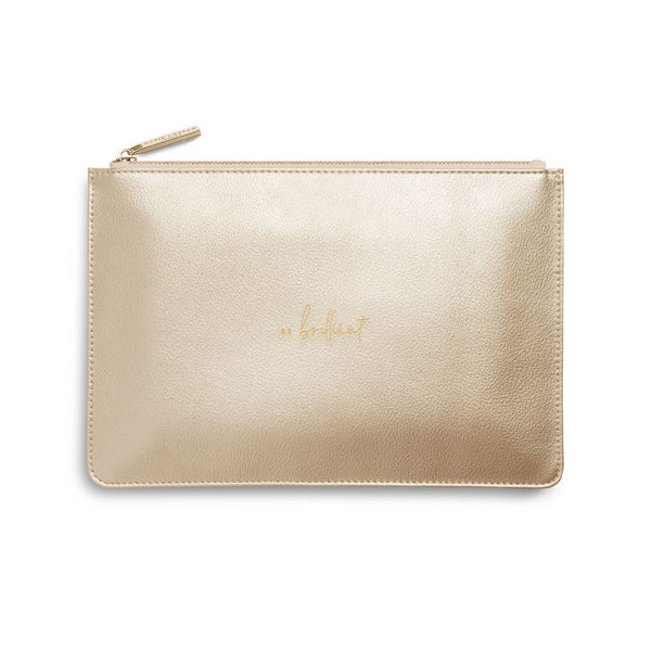 Perfect Pouch | Be Brilliant | Metallic Gold