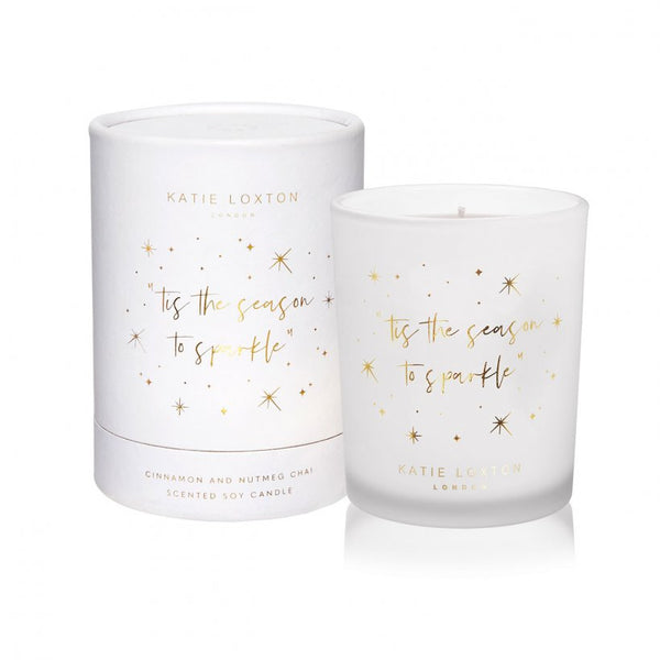 Cinnamon & Nutmeg Chai Candle | 'Tis The Season To Sparkle