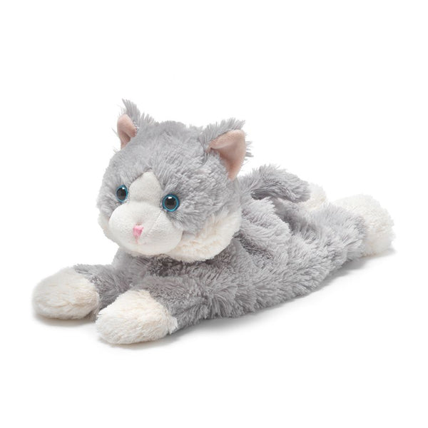 "Warmies® 13"" Laying Down Grey Cat"