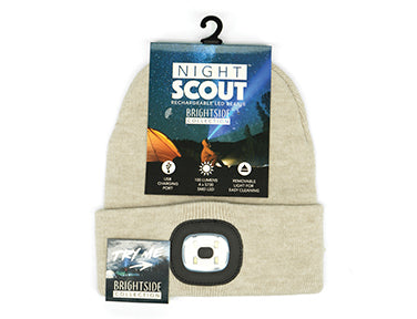Night Scout Rechargeable LED Beanie - Brightside Collection