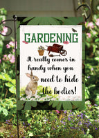 Gardening Comes In Handy Garden Flag