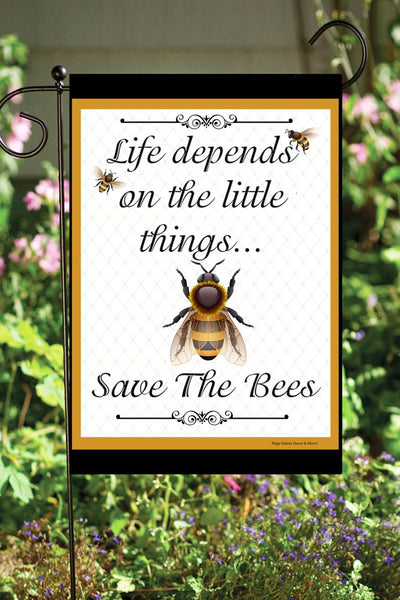 Save The Bees Garden Flag