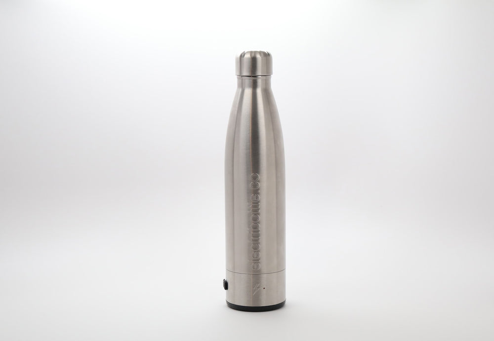 Show casing Electribottle, a device charging phone, that is able to charge any device via USB or wireless charging.