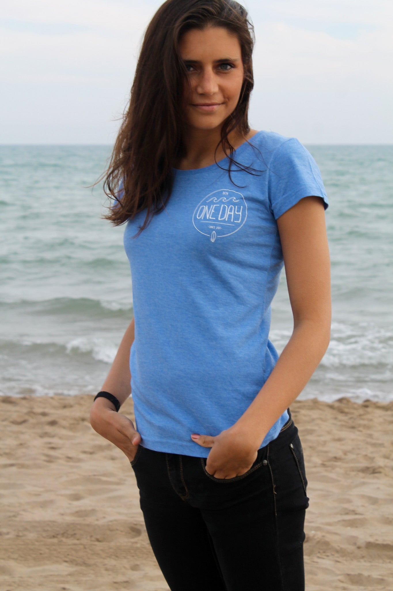 Venice Beach Tee Light Blue