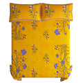 Jaipuri Bedsheet King Size (88x103  Inch ) 100% Cotton -  Kashmir Kali Yellow