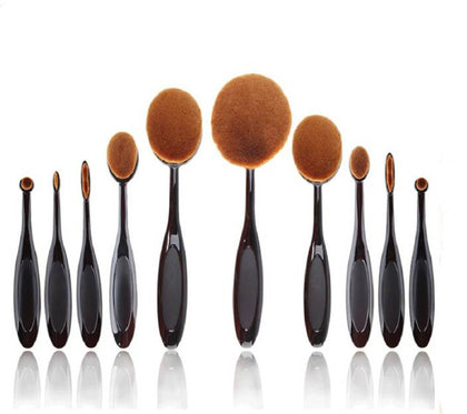 Color Tools Professionals Blend Master Oval Brushes Set  (Pack of 10) - iZiffy.com