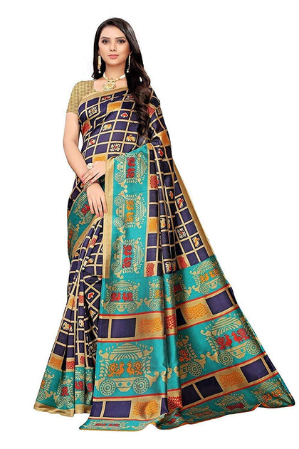 Flaray Silk with Blouse Piece Saree - iZiffy.com