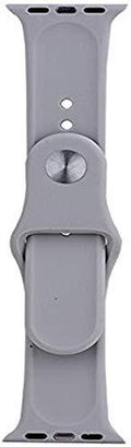 One Armor Compatible with Apple iWatch Band 42/44mm Silicone Strap for Series 4/3/2/1 (Watch NOT Included) Grey - iZiffy.com